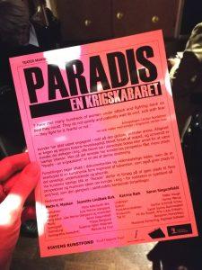 paradis krigskabaret teateranmeldelse mannheim momentum kulturmor