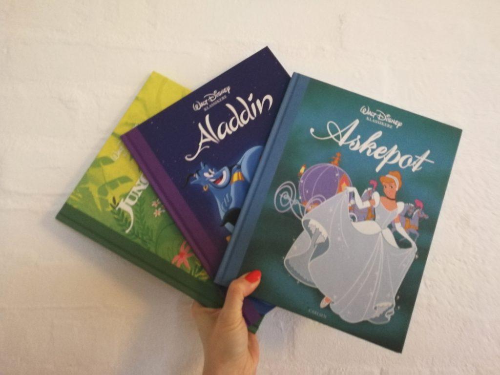 disney-historier højtlæsning børnebog askepot junglebogen aladdin
